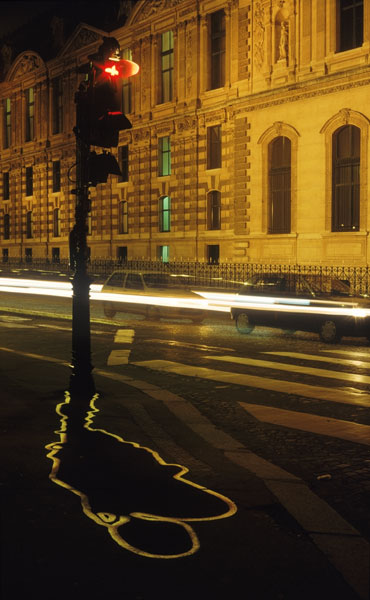 Electric Shadows - Feux de signalisation, quai du Louvre, Paris 2000